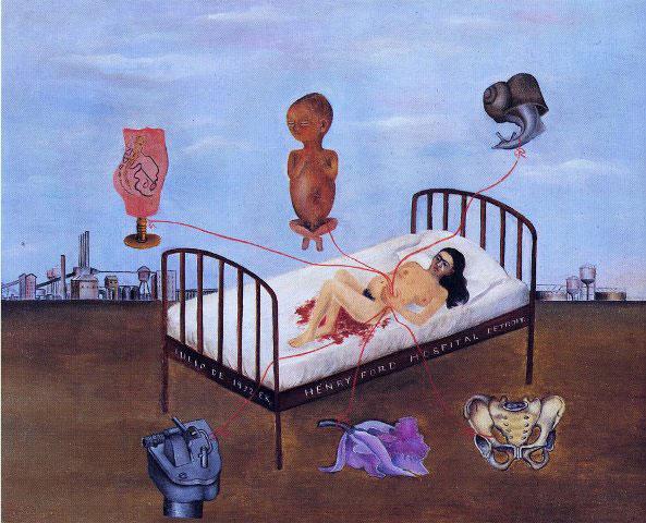 """Henry Ford Hospital"" di Frida Kahlo"