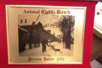 La targa del Premio Hitler