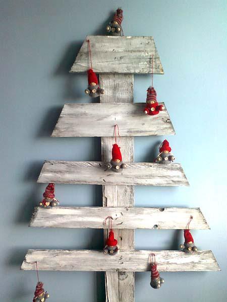 3 idee per albero di natale in pallet - Decorazioni natalizie con legno ...